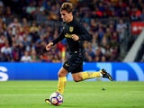 Antoine Griezmann in action for Atletico Madrid on September 21, 2016