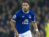 Ashley Williams in action during the Premier League game between Everton and Arsenal on December 13, 2016