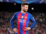 Gerard Pique in action for Barcelona on October 19, 2016