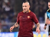 Radja Nainggolan in action during the Serie A game between Roma and Milan on December 12, 2016
