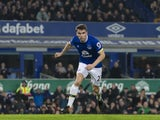 Big Seamus Coleman in action during the Premier League game between Everton and Arsenal on December 13, 2016