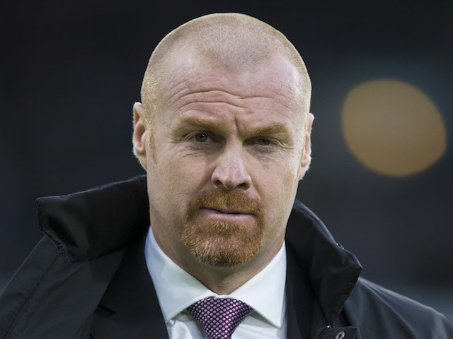 Sean Dyche watches on during the Premier League game between Burnley and Bournemouth on December 11, 2016