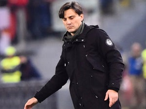 Vincenzo Montella watches on