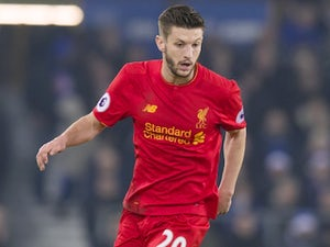 Adam Lallana in action during the Premier League game between Everton and Liverpool on December 19, 2016