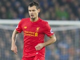 Dejan Lovren in action during the Premier League game between Everton and Liverpool on December 19, 2016
