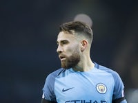 Nicolas Otamendi in action during the Premier League game between Manchester City and Arsenal on December 18, 2016
