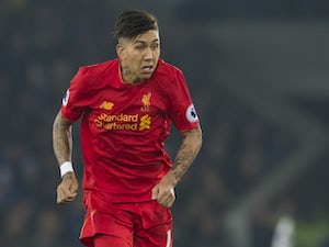 Roberto Firmino in action during the Premier League game between Everton and Liverpool on December 19, 2016