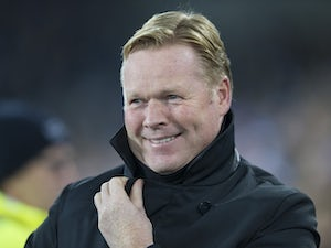 Ronald Koeman is all smiles during the Premier League game between Everton and Liverpool on December 19, 2016