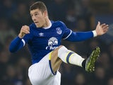 Ross Barkley in action during the Premier League game between Everton and Liverpool on December 19, 2016