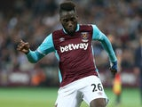 Arthur Masuaku in action for West Ham United on September 21, 2016
