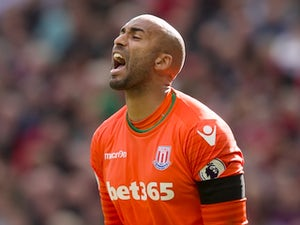 Lee Grant in action for Stoke City on October 2, 2016