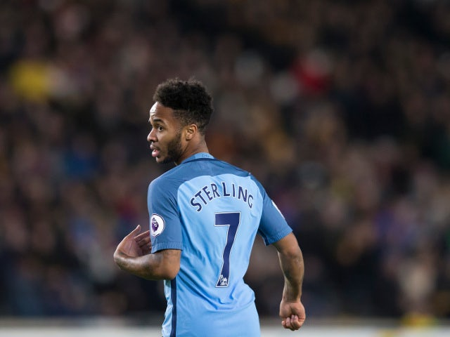 Manchester City winger Raheem Sterling in action during his side's Premier League clash with Hull City at the Etihad Stadium on Boxing Day