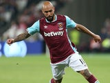 Simone Zaza in action for West Ham United on September 21, 2016