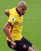 Younes Kaboul in action for Watford on October 1, 2016