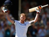 Ben Stokes celebrates his century on day two of the second Test between South Africa and England on January 3, 2016