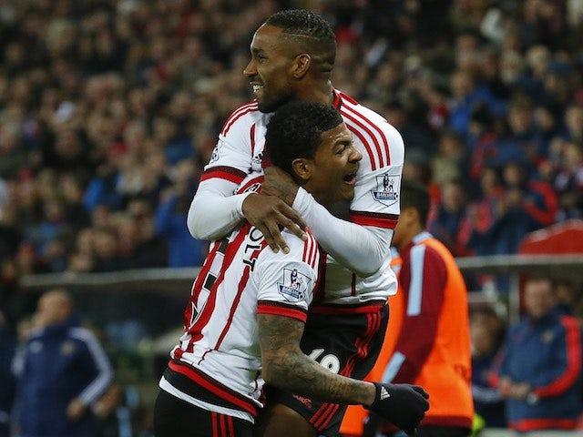 Jermain Defoe celebrates during the game between Sunderland and Aston Villa on January 2, 2016