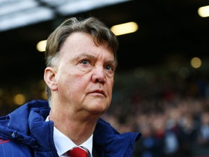 Louis van Gaal appears prior to the game between Manchester United and Swansea on January 2, 2016
