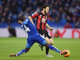 Ngolo Kante and Harry Arter in action during the game between Leicester and Bournemouth on January 2, 2016