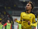 Pierre-Emerick Aubameyang in action for Borussia Dortmund on December 15, 2015