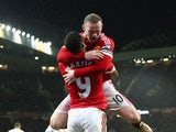Wayne Rooney and Anthony Martial during the game between Manchester United and Swansea on January 2, 2016