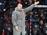 Arsenal manager Arsene Wenger watches on during his side's Premier League clash with Bournemouth at the Vitality Stadium on January 3, 2017