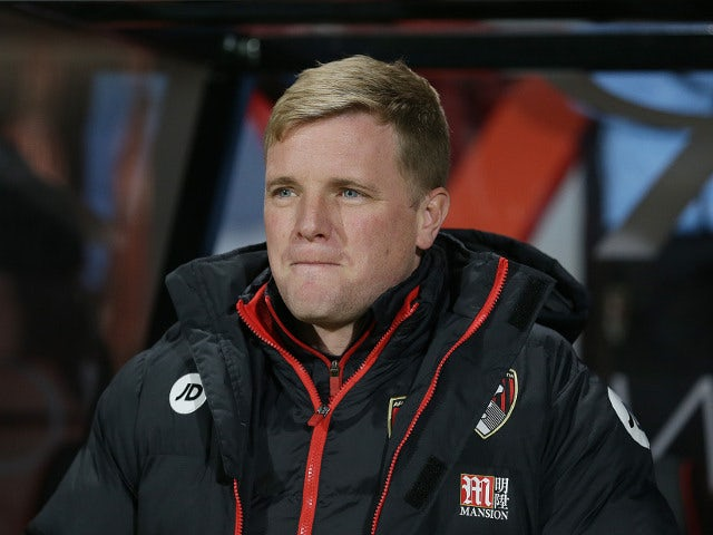 Bournemouth manager Eddie Howe watches on during his side's Premier League clash with Arsenal at the Vitality Stadium on December 3, 2017