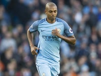 Fernandinho leaves the field after seeing red during the Premier League game between Manchester City and Burnley on January 2, 2017