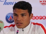 Paris Saint-Germain captain Thiago Silva speaks at a press conference on January 3, 2017