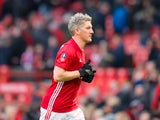 A rare sighting of Manchester United midfielder Bastian Schweinsteiger during the FA Cup third round clash with Reading at Old Trafford on January 7, 2017