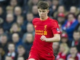 Ben Woodburn in action during the FA Cup game between Liverpool and Plymouth Argyle on January 8, 2017