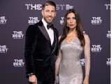 Sergio Ramos and his associated wife at the Best FIFA Football Awards on January 9, 2017