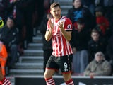 Jay Rodriguez grabs his side's second during the Premier League game between Southampton and Leicester City on January 22, 2017