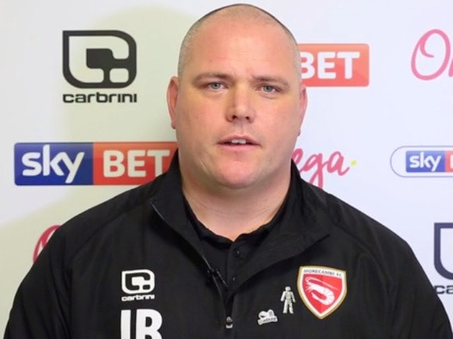 Morecambe manager Jim Bentley pictured in January 2017