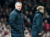 Manchester United manager Jose Mourinho and Liverpool boss Jurgen Klopp watches on during the Premier League clash at Old Trafford on January 15, 2017