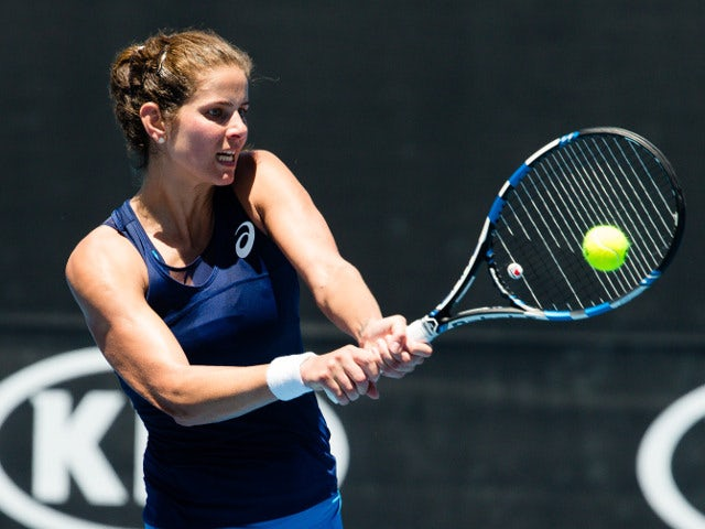 Julia Gorges in action at the 2017 Australian Open on January 16, 2017