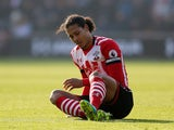 Virgil van Dijk is subbed with a foot injury during the Premier League game between Southampton and Leicester City on January 22, 2017