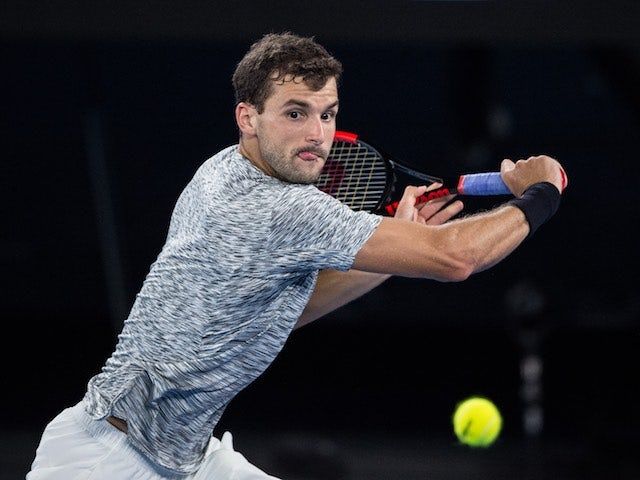 Grigor Dimitrov in action at the Australian Open on January 27, 2017
