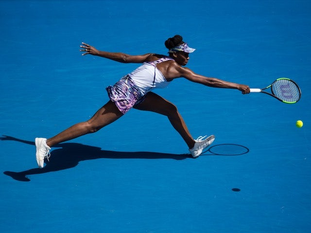 Venus Williams in action at the Australian Open on January 26, 2017