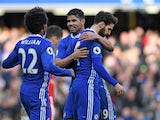 Cesc Fabregas sort of celebrates the Blues' third during the Premier League game between Chelsea and Arsenal on February 4, 2017