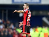 Jack Wilshere in action during the Premier League game between Everton and Bournemouth on February 4, 2017