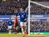 James McCarthy celebrates scoring during the Premier League game between Everton and Bournemouth on February 4, 2017