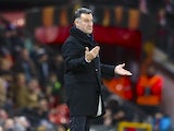 Saint-Etienne manager Christophe Galtier during the Europa League match against Manchester United on February 16, 2017