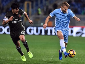 Ciro Immobile of Lazio in action against AC Milan on February 13, 2017