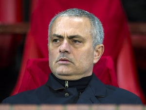Manchester United manager Jose Mourinho at the Europa League match against Saint-Etienne on February 16, 2017
