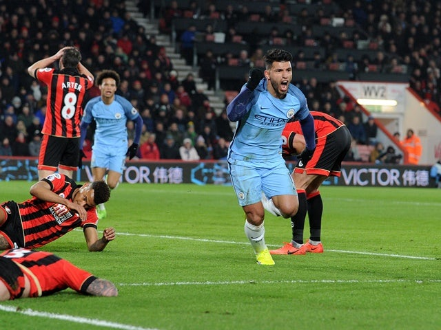 Result: Man City into second with win at Bournemouth