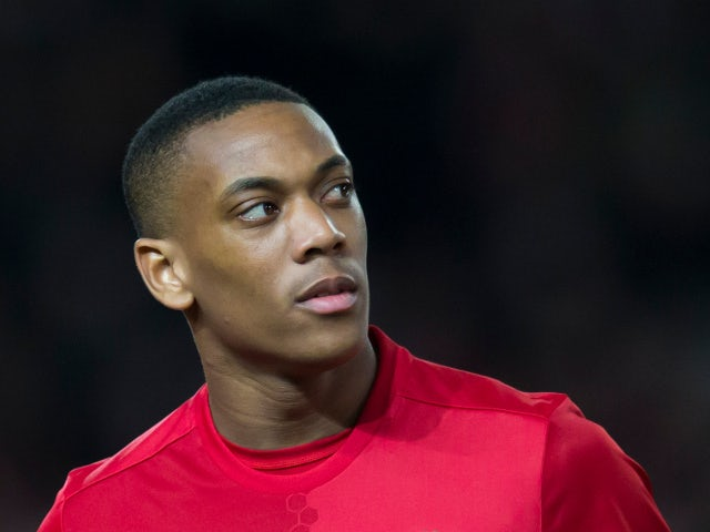 Manchester United winger Anthony Martial in action during the Europa League clash with Saint-Etienne at Old Trafford on February 16, 2017
