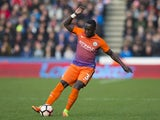 Manchester City's Bacary Sagna during the FA Cup fifth-round match against Huddersfield Town on February 18, 2017