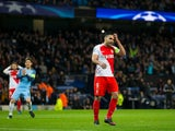 AS Monaco striker Radamel Falcao in action during his side's Champions League last 16 first leg against Manchester City at the Etihad Stadium on February 21, 2017