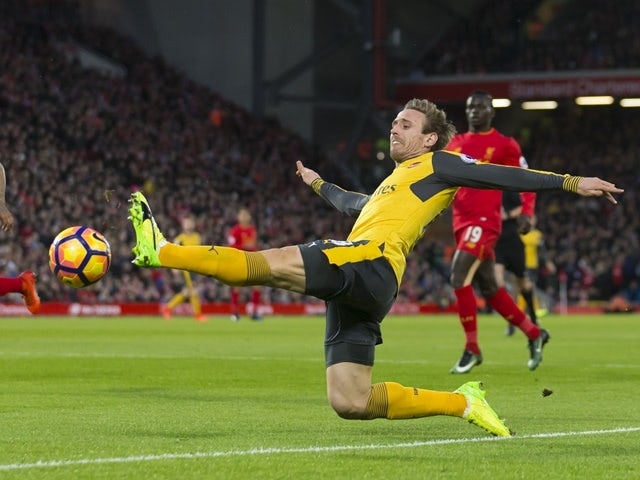 Arsenal defender Nacho Monreal in action against Liverpool on March 4, 2017