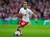 Southampton winger Nathan Redmond in action during his side's EFL Cup final against Manchester United at Wembley on February 26, 2017